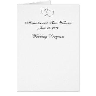 "Programme de mariage ""de coeurs de verrouillage"" carte de vœux"
