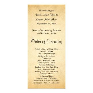 Programme de mariage de conception de motif de cartes doubles