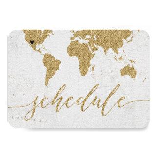 Programme de mariage de destination de carte du