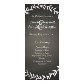 Programme de mariage de guirlande de tableau cartons d'informations  10 cm x 22,9 cm