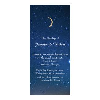 Programme de mariage de nuit étoilée carte double
