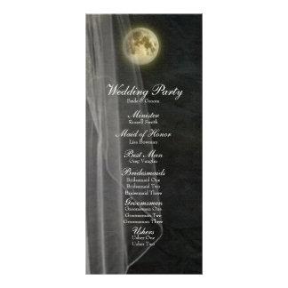 Programme de mariage de voile de nuit de noir de double cartes customisées