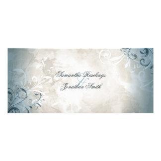 Programme de mariage - feuillage vintage élégant carte publicitaire