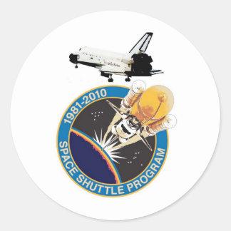 Programme de navette spatiale de la NASA Sticker Rond