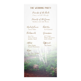 Programme enchanté de mariage de forêt