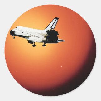 Programme final de navette spatiale de la NASA de Sticker Rond