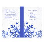 Programme floral abstrait de mariage de bleu et de prospectus en couleur