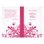 Programme floral abstrait de mariage de rose et de tract