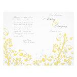 Programme floral abstrait jaune et de blanc de mar prospectus