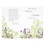 Programme floral abstrait vert et de pourpre de ma prospectus customisé