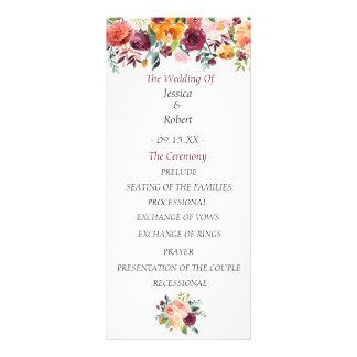 Programme floral chic de mariage de Bourgogne