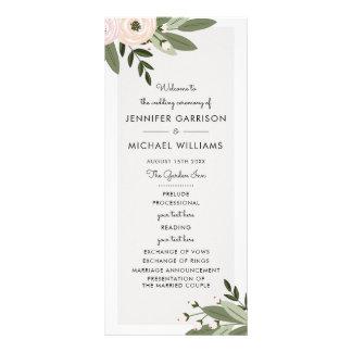 Programme floral de brins de mariage cartes doubles customisables