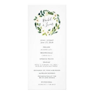 Programme floral de cérémonie de mariage de