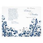 programme floral de mariage d'abrégé sur blanc gri prospectus avec motif