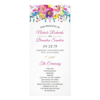 Programme floral de mariage de fleur fuchsia