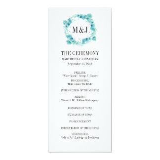 Programme floral de mariage de guirlande carton d'invitation  10,16 cm x 23,49 cm