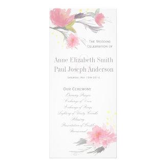 Programme floral de mariage double carte personnalisée