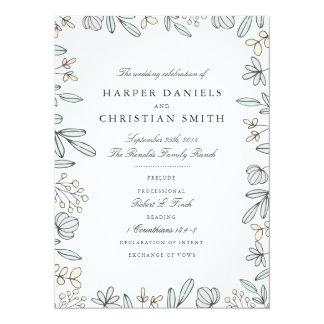 Programme floral sensible de mariage