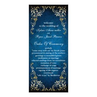 """programme majestueux rustique de mariage """"de bleu"""