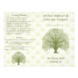 Programme olive de mariage d'arbre de grain en prospectus 21,6 cm x 24,94 cm