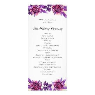 Programme pourpre de mariage. Cérémonie de fleur