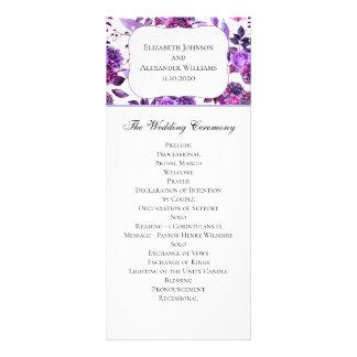 Programme pourpre de mariage. Cérémonie florale