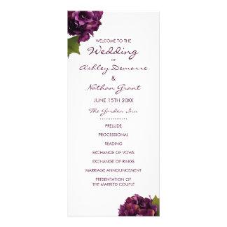 Programme pourpre de mariage d'hortensia