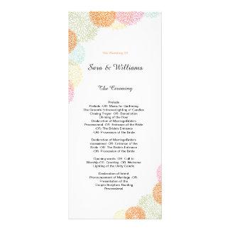 Programme romantique élégant de mariage