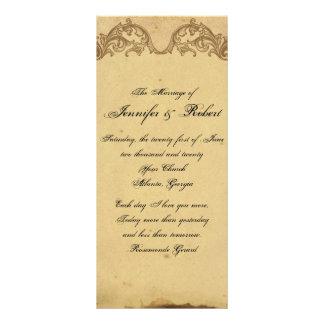 Programme snob de mariage de paon vintage élégant