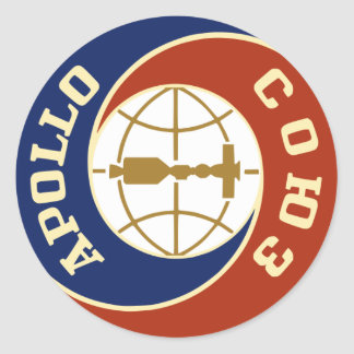 programme spatial de la NASA Apollo Sticker Rond