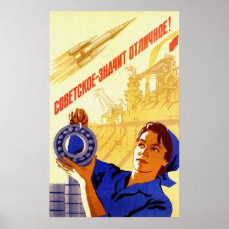 Programme spatial de l'URSS Poster
