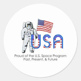 Programme spatial des États-Unis de PIÈCE EN T Adhésifs Ronds