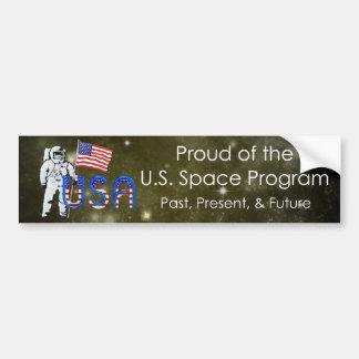 Programme spatial des États-Unis de PIÈCE EN T Autocollant De Voiture
