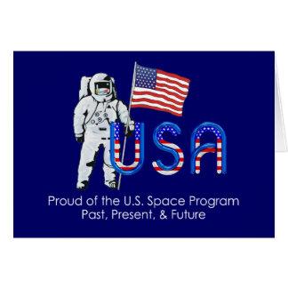 Programme spatial des États-Unis de PIÈCE EN T Carte De Vœux