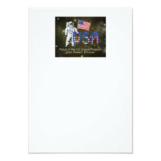 Programme spatial des États-Unis de PIÈCE EN T Carton D'invitation 12,7 Cm X 17,78 Cm