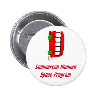 Programme spatial équipé par message publicitaire pin's avec agrafe
