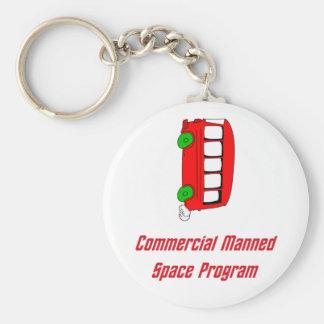 Programme spatial équipé par message publicitaire porte-clé rond