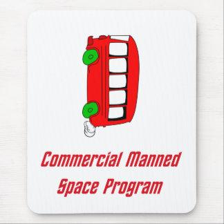 Programme spatial équipé par message publicitaire tapis de souris