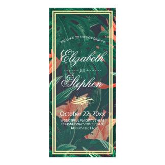 Programme tropical floral et de feuille d'or de