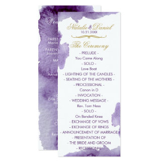 Programme ultra-violet de mariage d'aquarelle
