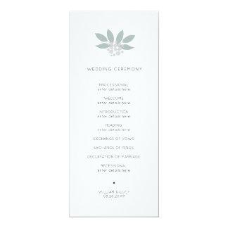 Programme vert de mariage de foilage