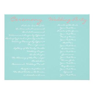 Programme vintage de cérémonie de mariage de plage prospectus 21,6 cm x 24,94 cm