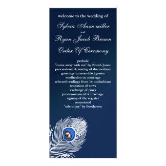 Programmes blancs et bleus élégants de paon