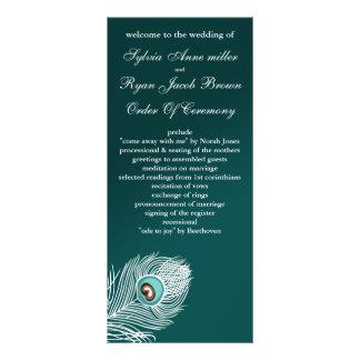 Programmes blancs et turquoises élégants de paon