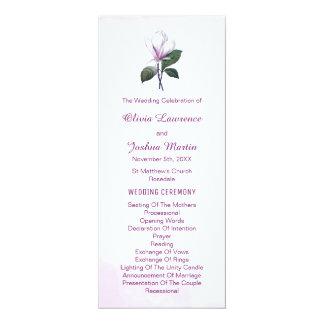 Programmes de mariage de magnolia carton d'invitation  10,16 cm x 23,49 cm
