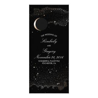 Programmes de mariage de noir de lune de nuit