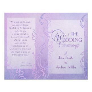 Programmes de mariage - pourpre prospectus personnalisés