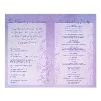 Programmes de mariage - prune prospectus customisé