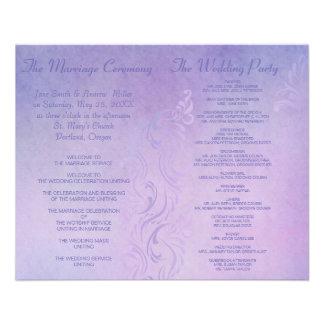 Programmes élégants de mariage - pourpre prospectus customisé