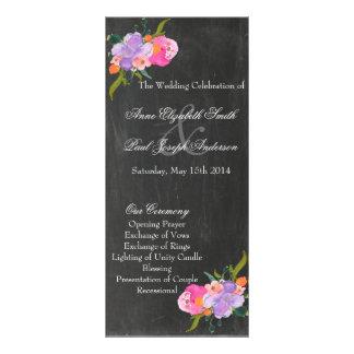 Programmes floraux de mariage de tableau